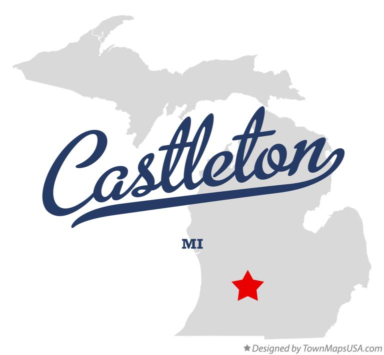 Map of Castleton Michigan MI