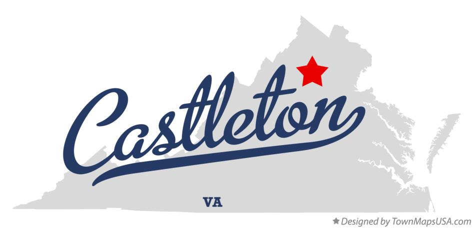 Map of Castleton Virginia VA