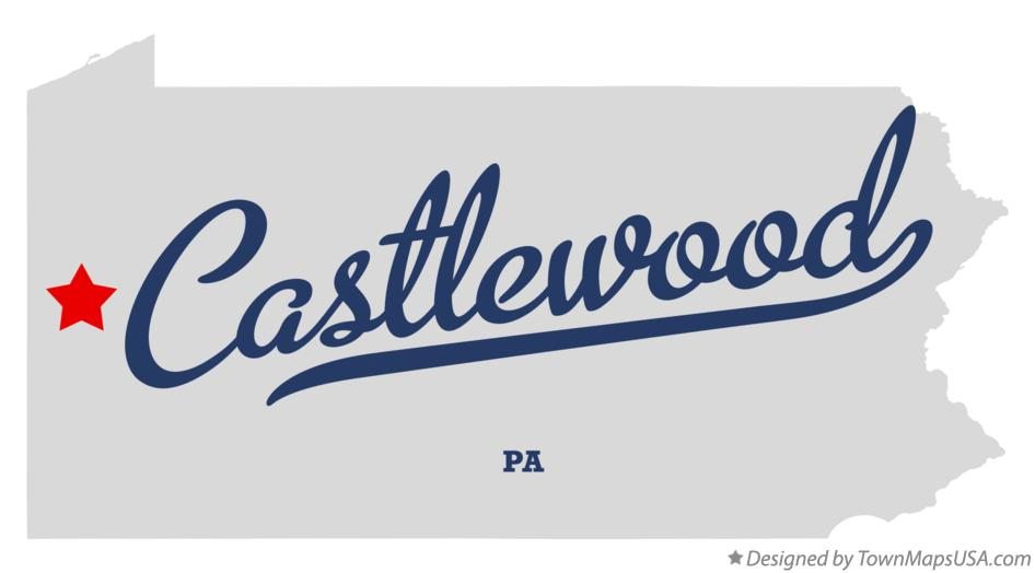 Map of Castlewood Pennsylvania PA