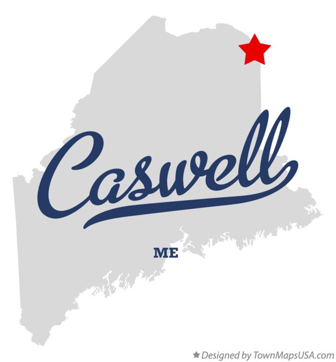 Map of Caswell Maine ME