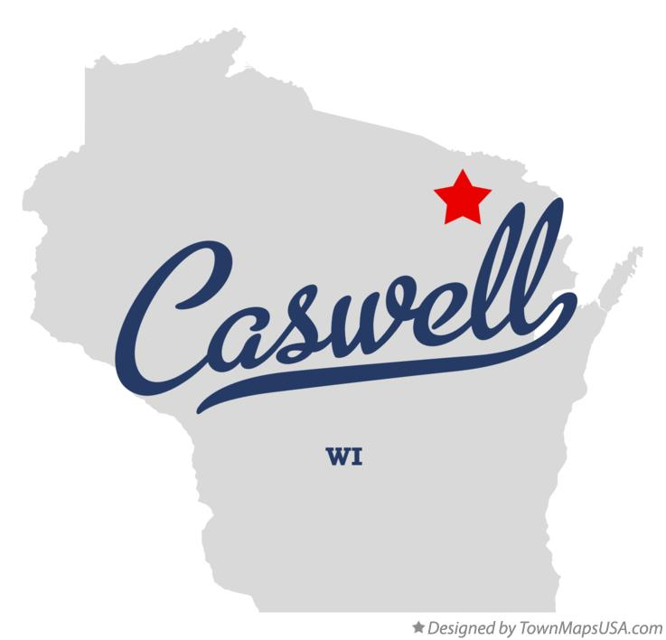 Map of Caswell Wisconsin WI