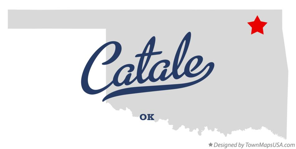 Map of Catale Oklahoma OK