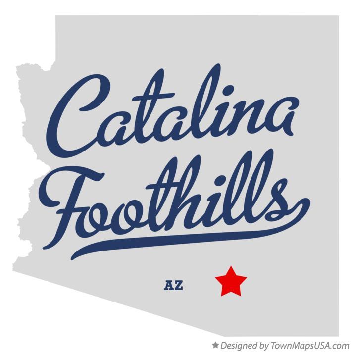 Map of Catalina Foothills AZ Arizona