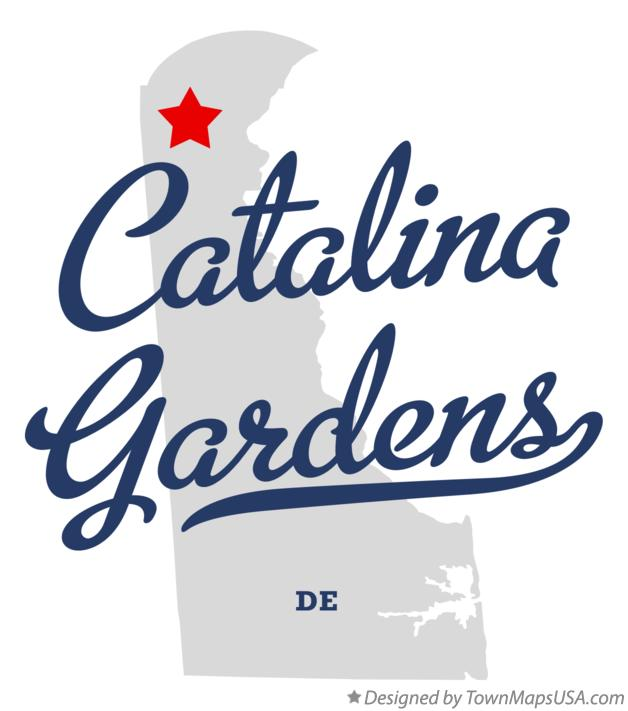 Map of Catalina Gardens Delaware DE