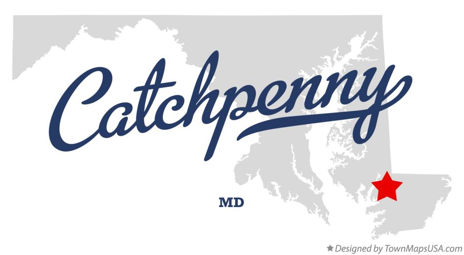 Map of Catchpenny Maryland MD