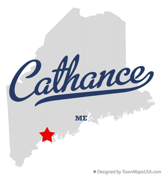 Map of Cathance Maine ME