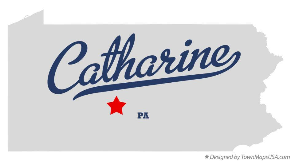 Map of Catharine Pennsylvania PA