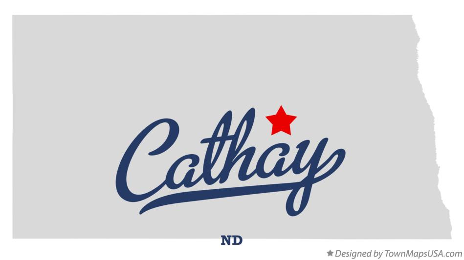 Map of Cathay North Dakota ND