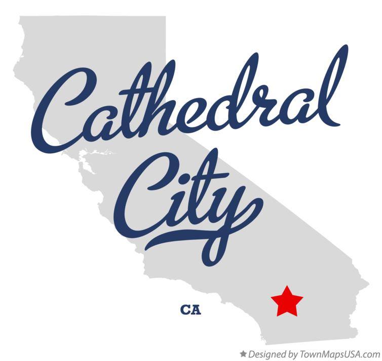 Map of Cathedral City California CA