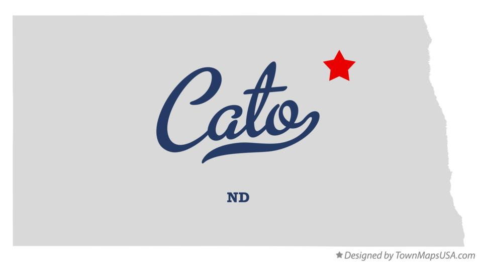 Map of Cato North Dakota ND
