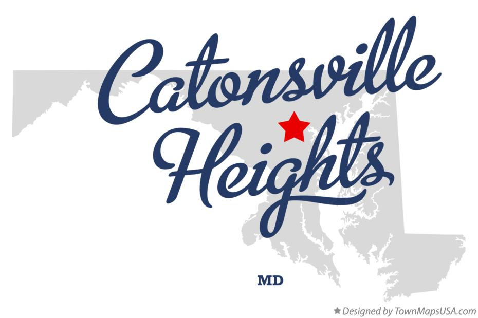 Map of Catonsville Heights Maryland MD