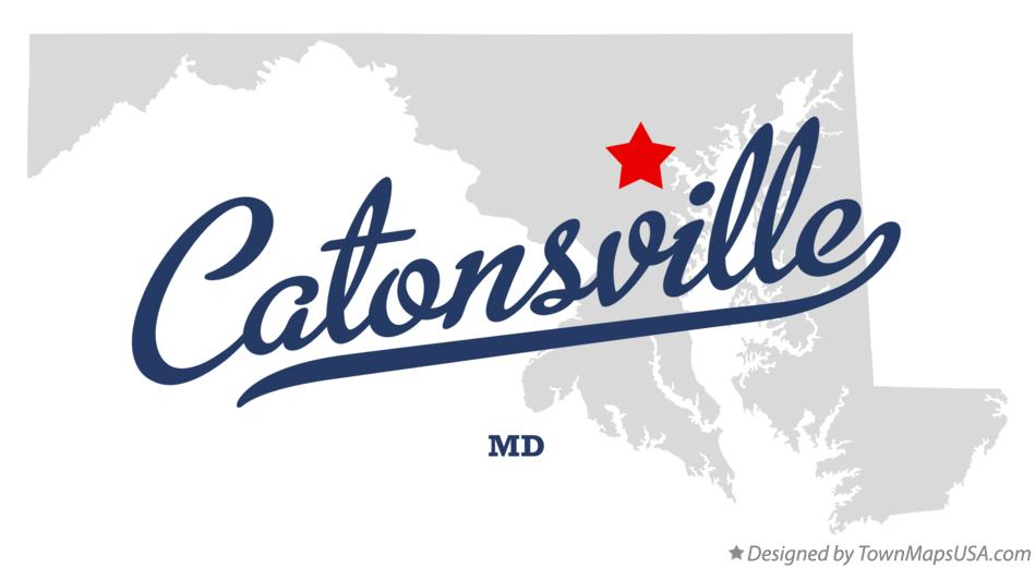 Map of Catonsville Maryland MD