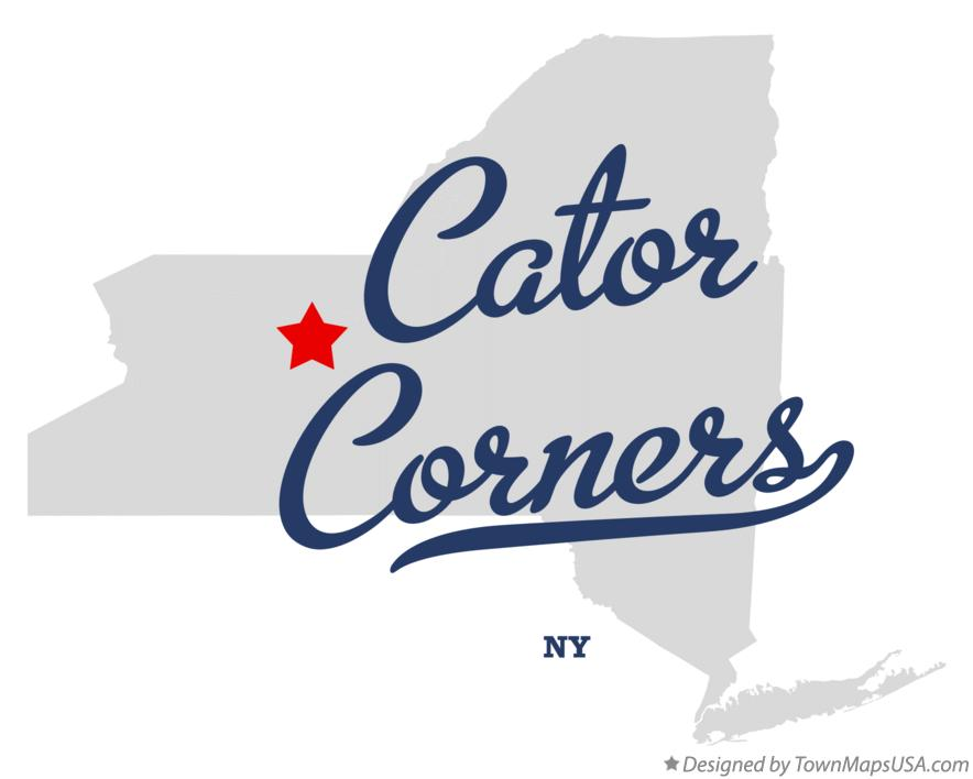 Map of Cator Corners New York NY