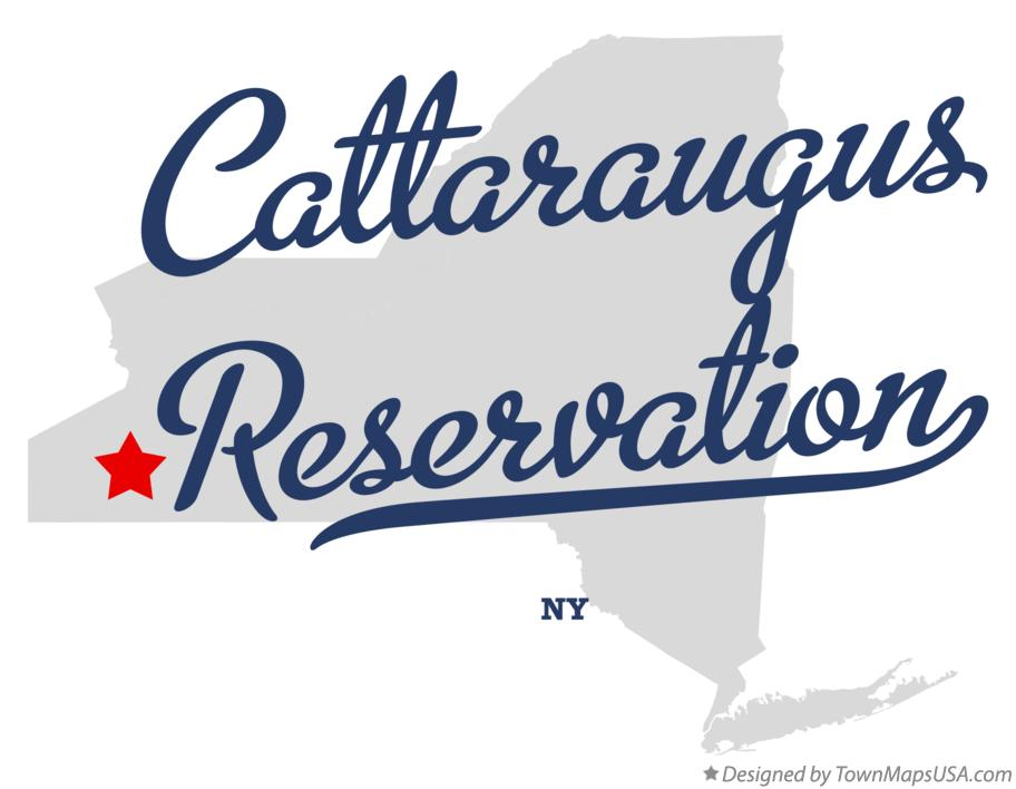 Map of Cattaraugus Reservation New York NY