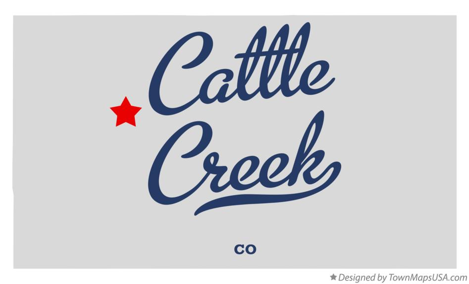 Map of Cattle Creek Colorado CO