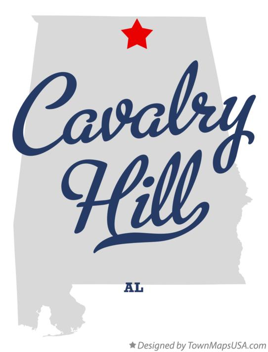 Map of Cavalry Hill Alabama AL