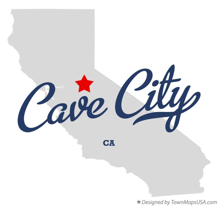 Map of Cave City California CA