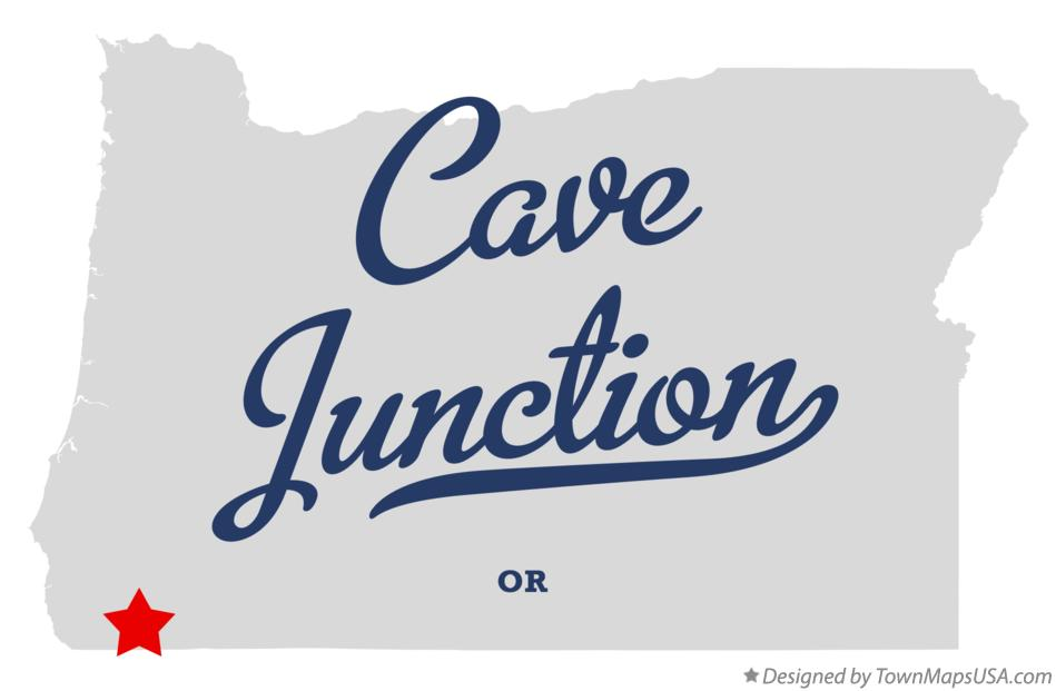 Map of Cave Junction Oregon OR