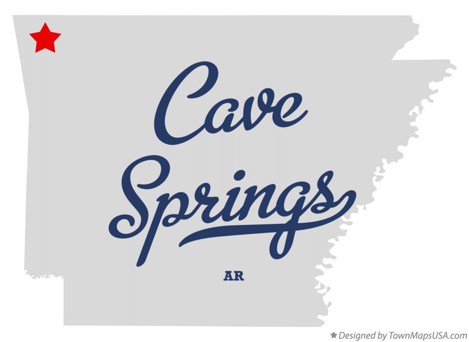 Map of Cave Springs, AR, Arkansas