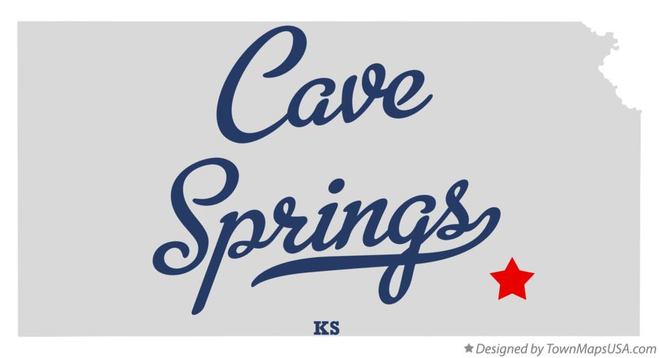 Map of Cave Springs Kansas KS