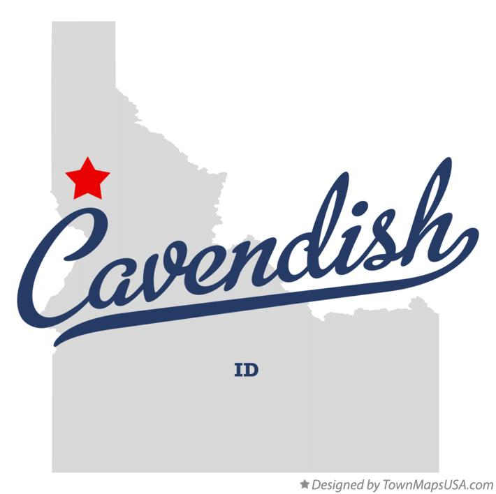 Map of Cavendish Idaho ID
