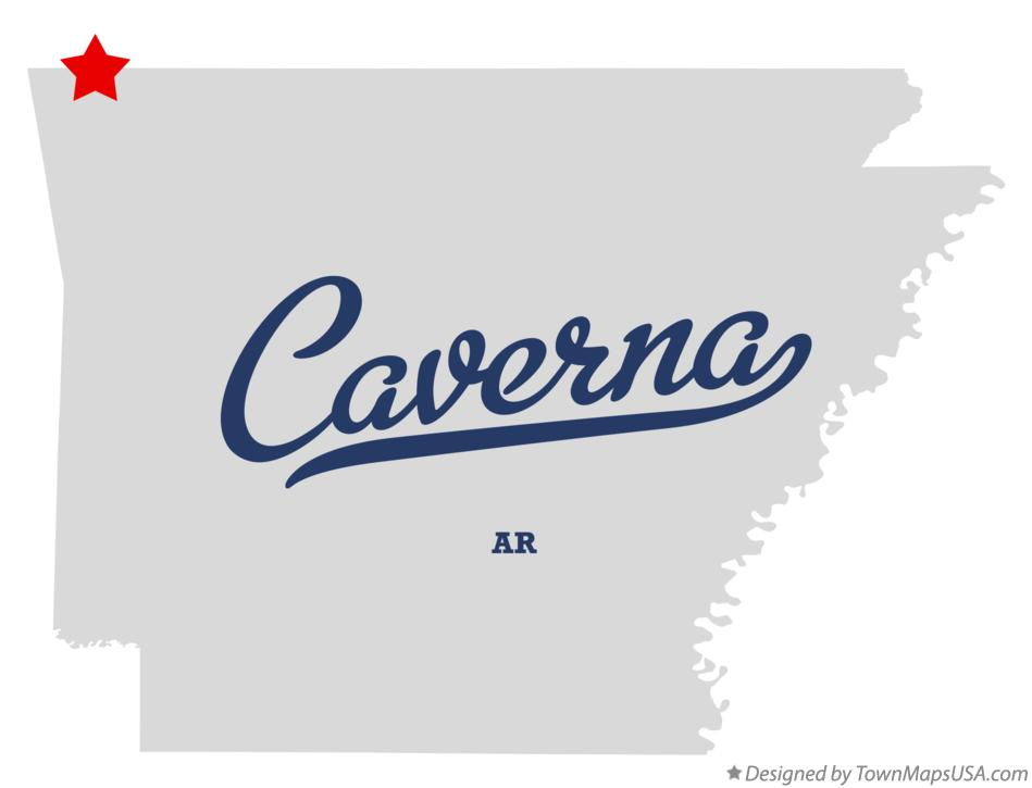 Map of Caverna Arkansas AR