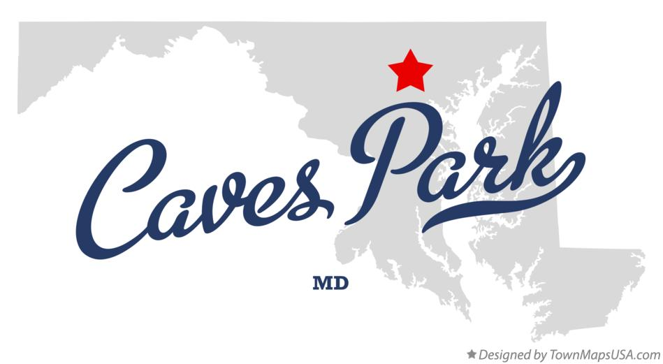 Map of Caves Park Maryland MD