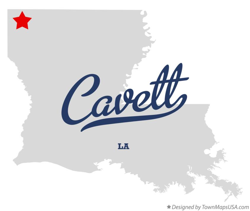 Map of Cavett Louisiana LA