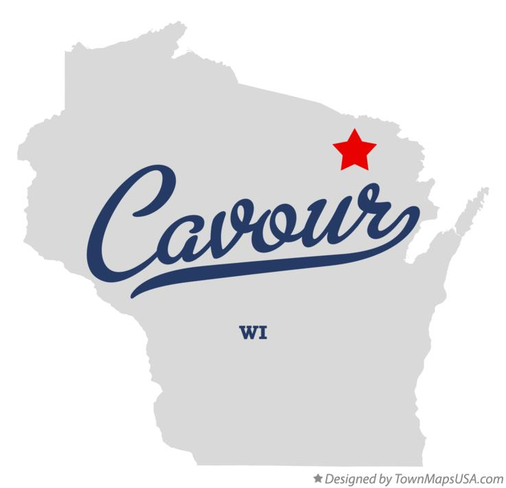 Map of Cavour Wisconsin WI