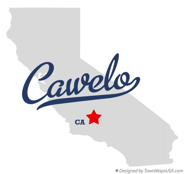 Map of Cawelo California CA