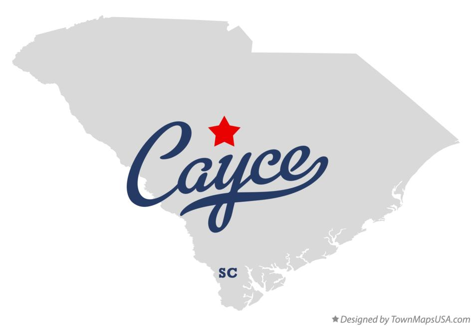 Map of Cayce South Carolina SC