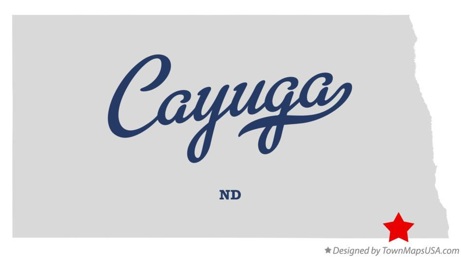 Map of Cayuga North Dakota ND