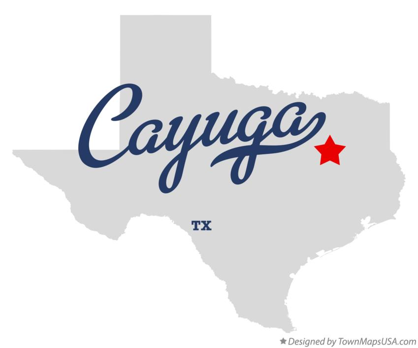 Map of Cayuga Texas TX