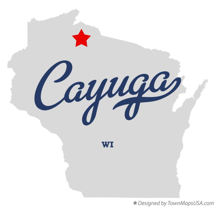 Map of Cayuga Wisconsin WI