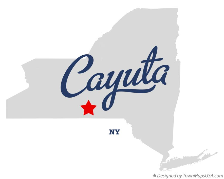 Map of Cayuta New York NY