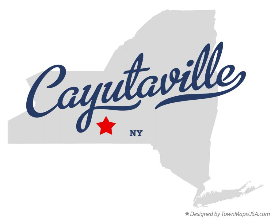 Map of Cayutaville New York NY