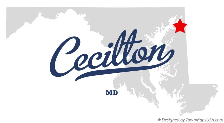 Map of Cecilton Maryland MD