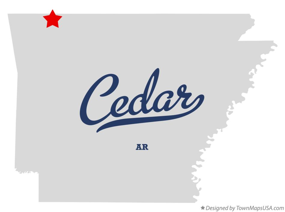 Map of Cedar Arkansas AR