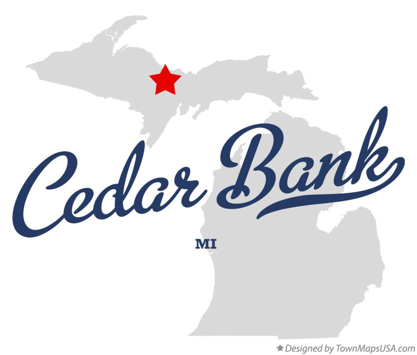 Map of Cedar Bank Michigan MI