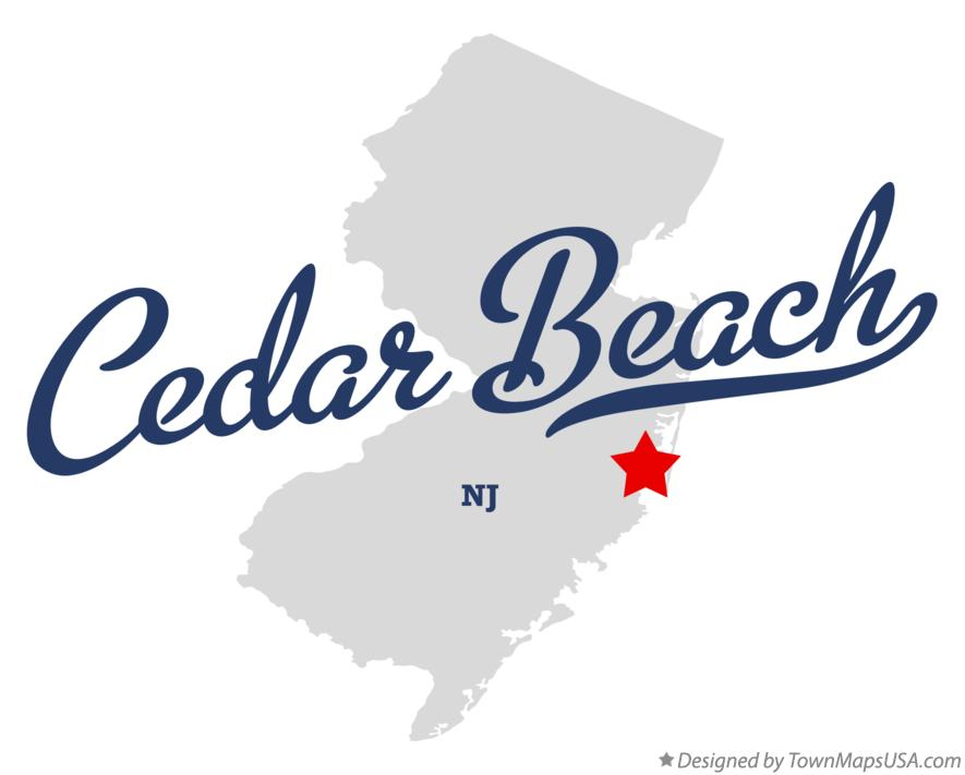 Map of Cedar Beach New Jersey NJ
