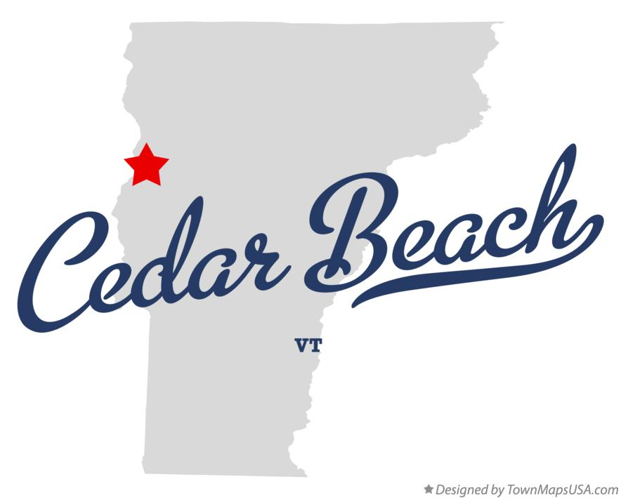 Map of Cedar Beach Vermont VT