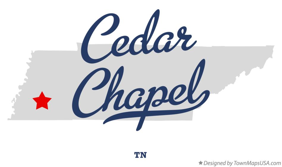 Map of Cedar Chapel Tennessee TN