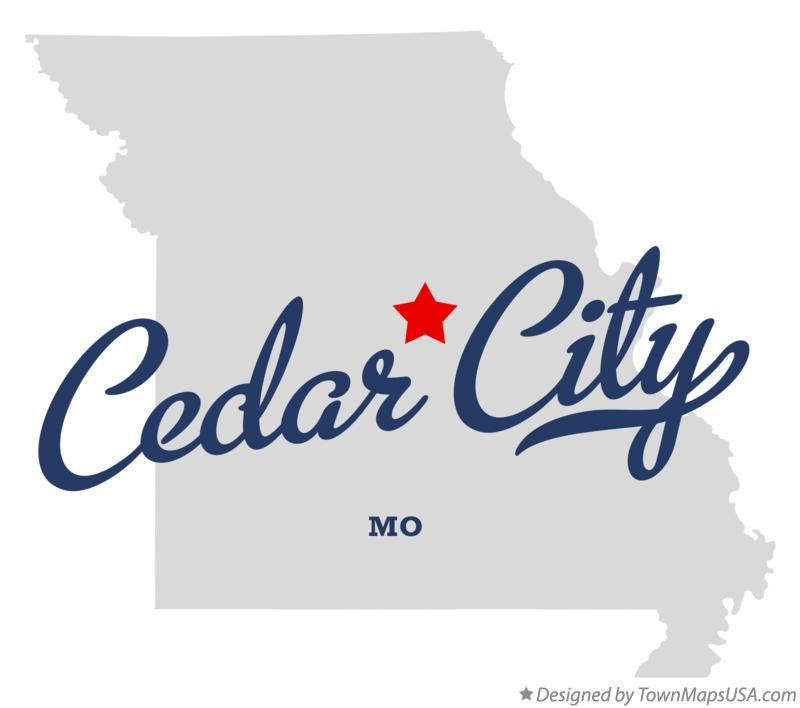 Map of Cedar City Missouri MO