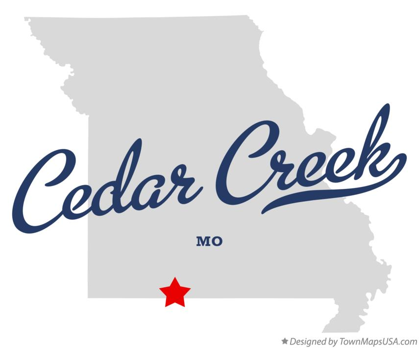 Map of Cedar Creek Missouri MO