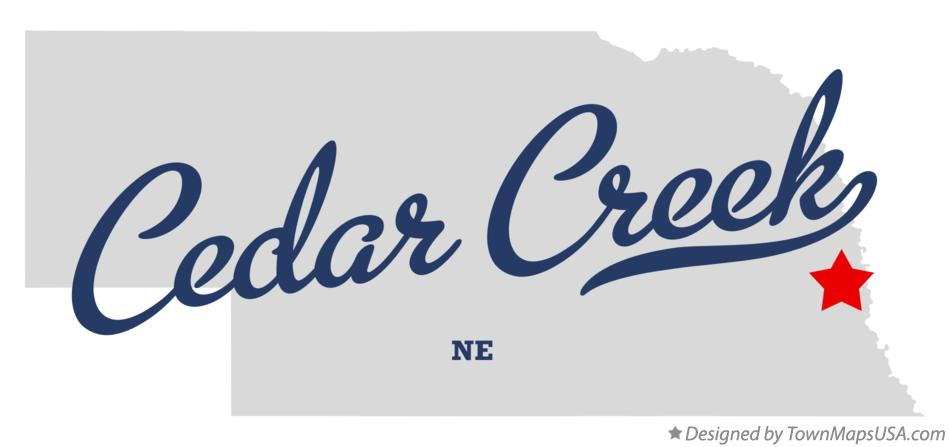 Map of Cedar Creek Nebraska NE