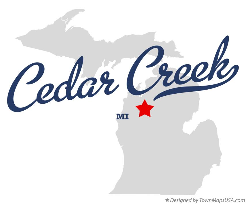 Map of Cedar Creek Michigan MI