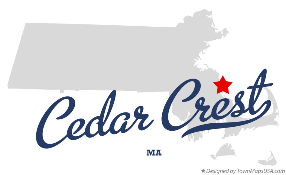 Map of Cedar Crest Massachusetts MA