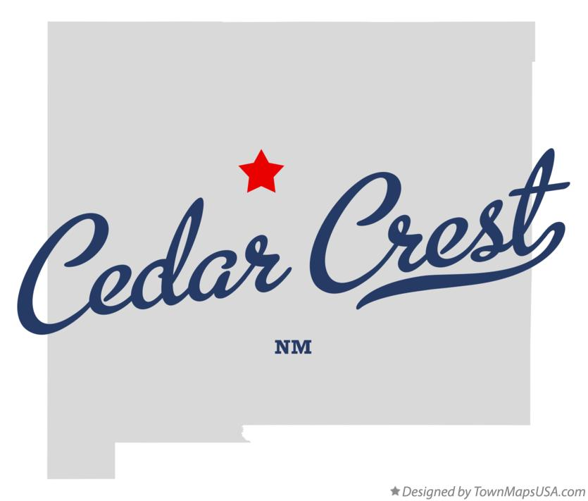 Map of Cedar Crest New Mexico NM