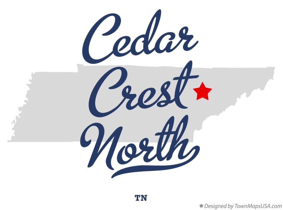 Map of Cedar Crest North Tennessee TN