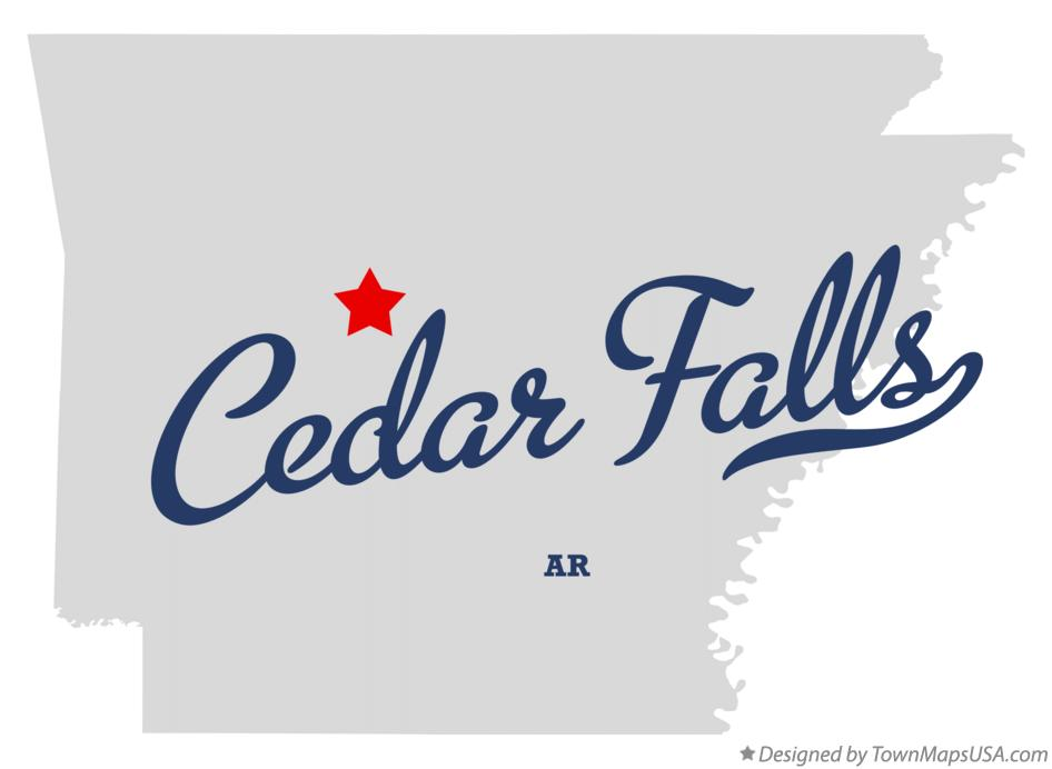 Map of Cedar Falls Arkansas AR